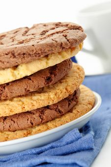Free Oat Cookies And Chocolate Cookies Stock Image - 27527101