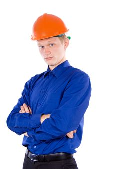 A Guy At Work Stock Photography