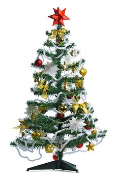 Free Decorated Christmas Tree Royalty Free Stock Photo - 27527785