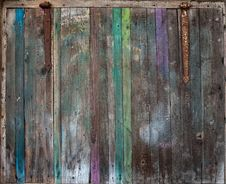 Free The Old Wooden Vintage Colored Door Stock Image - 27528061