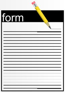 Free Paper Form. Stock Photography - 27529542
