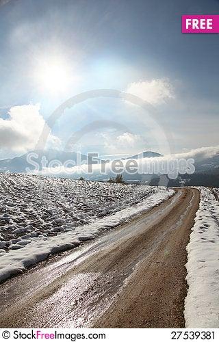 Free Rural Winter Scene Stock Image - 27539381