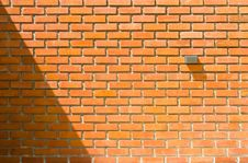 Free Old Brick Wall Texture On Sunlight Royalty Free Stock Photos - 27536278