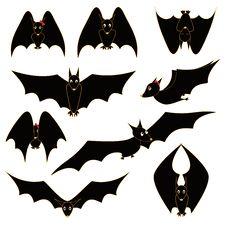 Free Set Of Funny Bats Stock Photos - 27538403