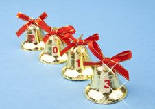 Free Christmas Bells 2013 Royalty Free Stock Photography - 27538407
