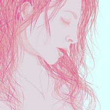Free Illustration Woman S Face In Profile. Royalty Free Stock Images - 27538889