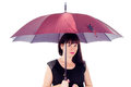 Free Beautiful Girl Under The Umbrella Of Royalty Free Stock Image - 27546776