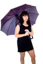 Free Beautiful Girl Under The Umbrella Of Royalty Free Stock Photography - 27546787