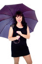 Free Beautiful Girl Under The Umbrella Of Royalty Free Stock Image - 27546806