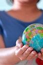 Free Earth Globe In Hand Stock Image - 27547641