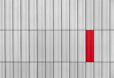 Free Gray Wall With A Red Rectangle Stock Photography - 27540152