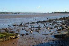 Free Estuary At Low Tide Stock Photos - 27540203