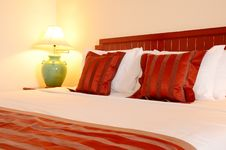 Free Bedroom In Red. Royalty Free Stock Photos - 27540998