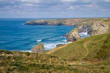 Free North Cornwall Coastline England Stock Photography - 27541172