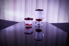 Colored Drinks  On Table Bar Royalty Free Stock Image
