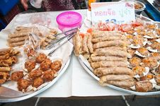 Free Deep-fried Crab Meat And Minced Pork Thai Food Stock Image - 27545771