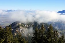 Free On Top Of The Mountain And Above The Clouds Stock Photos - 27546053