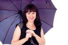 Free Beautiful Girl Under The Umbrella Of Royalty Free Stock Photo - 27546765