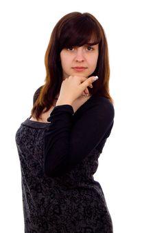 Free Beautiful Girl Thinks Stock Photography - 27546882