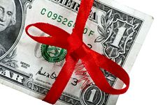 Free Dollar With A Bow Royalty Free Stock Photo - 27546995