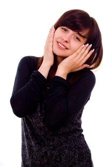 Free Beautiful Girl Shows Surprise Stock Photos - 27547003