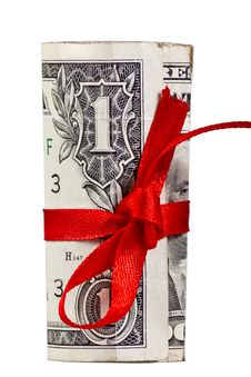 Free Rolled Up Dollar Stock Photography - 27547032