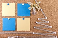 New Year S Ideas Corkboard Stock Photo