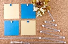Free New Year S Resolutions Corkboard Stock Photos - 27547153