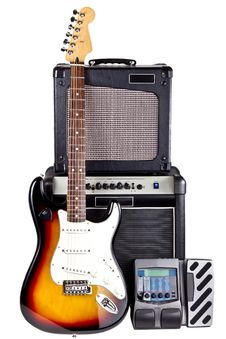 Free Guitarist Equipment Set Royalty Free Stock Photos - 27547698