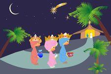 Free Three Kings Royalty Free Stock Photo - 27548335