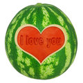 Free Water Melon With Heart Royalty Free Stock Photos - 27552228