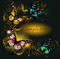 Free Luxury Background With Ornament And Butterflies Stock Image - 27552951