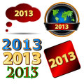 Free Set Of New Year Icons Royalty Free Stock Images - 27556259