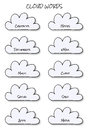 Free Cloud Words Stock Photography - 27558632