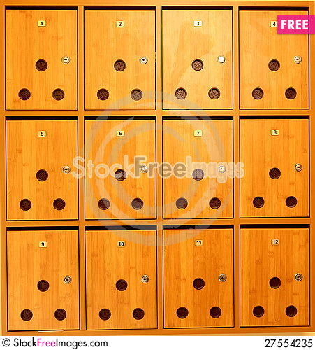 Free Post Boxes Royalty Free Stock Photo - 27554235