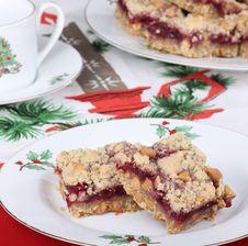 Free Cranberry Christmas Bars Stock Photo - 27551030