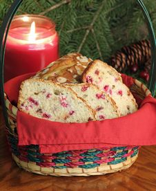 Free Basket Of Cranberry Bread Stock Photography - 27551362