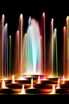 Free Colorful Water Fountain Royalty Free Stock Photo - 27552085