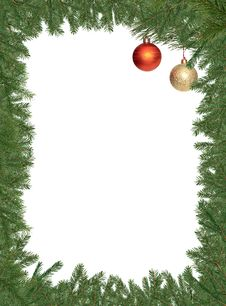 Free Christmas Decotarion Frame Stock Photography - 27552692