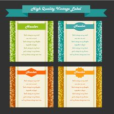 Free Vintage Labels Set, Vector Royalty Free Stock Photos - 27553798