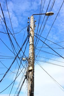 Free Electric Pole Stock Image - 27554221