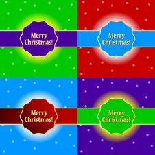 Free Merry Christmas Set Royalty Free Stock Photos - 27556238