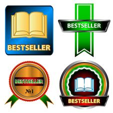 Free Bestseller Logo Set Stock Photo - 27556240