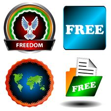 Free And Freedom Set Stock Photography