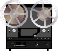 Free Bobbin Tape Recorder Royalty Free Stock Photo - 27557625
