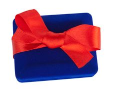 Free Gift Box With Red Bow Stock Photo - 27558390