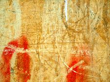 Texture Of Old Wall With Cracks. Royalty Free Stock Images