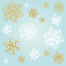 Free Light Blue Background With Snowflakes Stock Image - 27559661