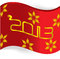 Free Red 2013 Greeting Flag Royalty Free Stock Images - 27552019