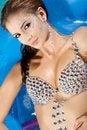 Free Beautiful Brunette In Swimmingpool Stock Image - 27565291